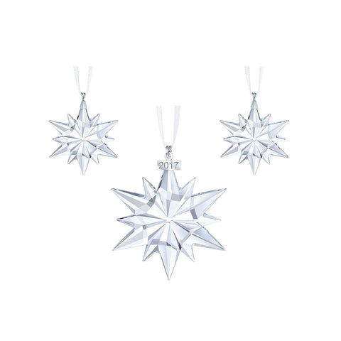 Swarovski Christmas SNOWFLAKES 2017 Ornaments Set of 3 #5268822