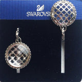 $145 Swarovski Clear Crystal Rhodium Pierced Earrings PAPRIKA CAGE #1181648