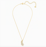 Swarovski Jewelry NICE FEATHER NECKLACE, Yellow Gold Tone -5505740