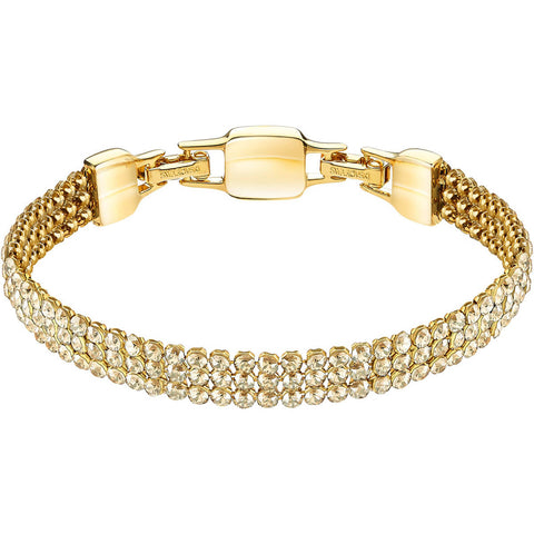 Swarovski Golden Crystal Mesh Bracelet CLIM Medium, Gold #5278718