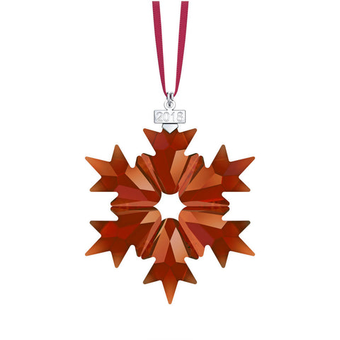 Swarovski Red Crystal Christmas Ornament 2018 Christmas Snowflake -5460487