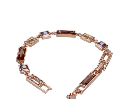 Swarovski Color Crystal Jewelry ILORI Bracelet Rose Gold Medium #851462