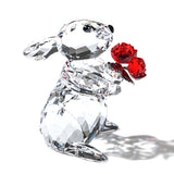 Swarovski Crystal Figurine RABBIT WITH ROSES - 5063338