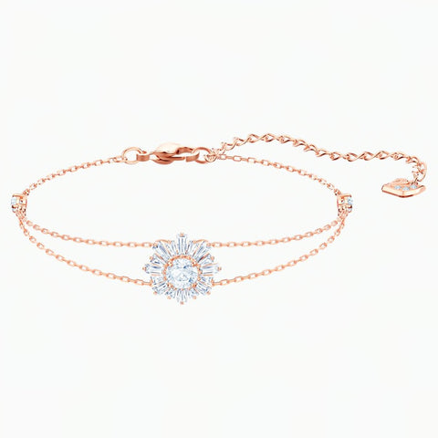 Swarovski SUNSHINE BRACELET, White, Rose Gold Tone -5451357