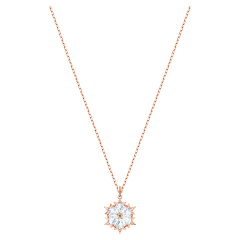 Swarovski Necklace MAGIC PENDANT, White, Rise Gold, Small -5428431