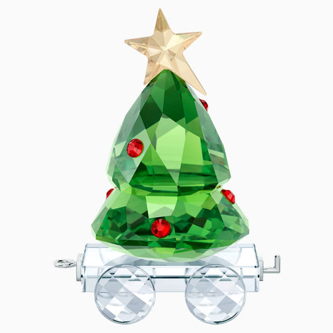 Swarovski Christmas Figurines CHRISTMAS TREE WAGON -5399977