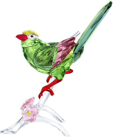 Swarovski Color Crystal Bird Figurine GREEN MAGPIE -5244650