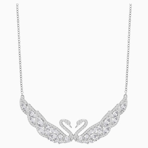 Swarovski SWAN LAKE NECKLACE, White, Rhodium -5201962