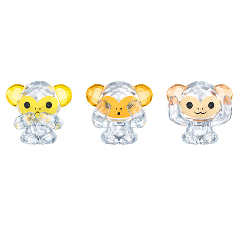 Swarovski Crystal Figurines THREE WISE MONKEYS -5428005