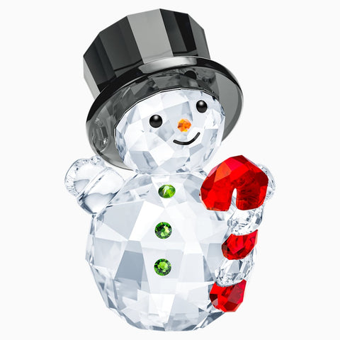Swarovski Christmas Figurine SNOWMAN WITH CANDY CANE -5464886
