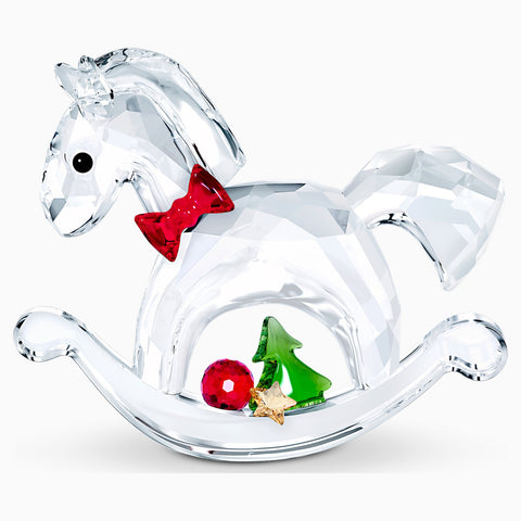 Swarovski Christmas Crystal Figurine ROCKING HORSE – HAPPY HOLIDAYS -5544529