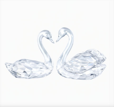 Swarovski Crystal Set of 2 Figurines SWAN COUPLE - 5135936