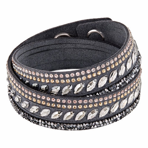 Swarovski Crystal SLAKE ROCK PULSE Bracelet, Grey #5217154