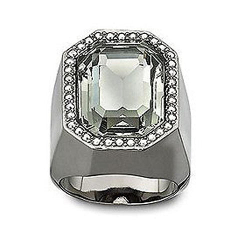 Swarovski Crystal Meteor Ring Black Diamond