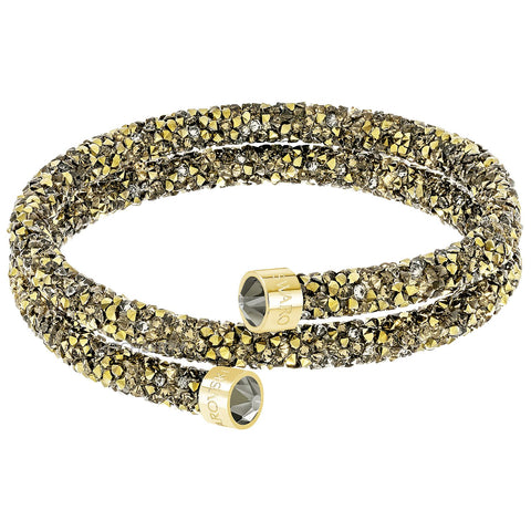Swarovski CrystalDust Bangle Bracelet, Multi-Colored Gold, Medium-5348103