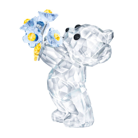 Swarovski Crystal Figurine KRIS BEAR - FORGET-ME-NOT -5427993