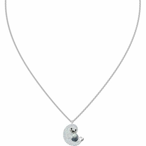 Swarovski Crystal POLAR SEAL PENDANT, Rhodium Plated -5491551