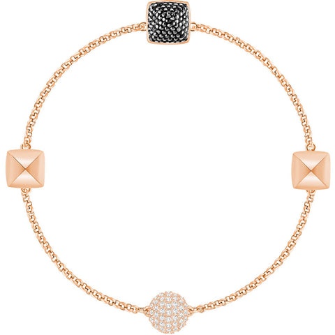 Swarovski Remix Collection SPIKE STRAND, Black, Rose Gold -5365753
