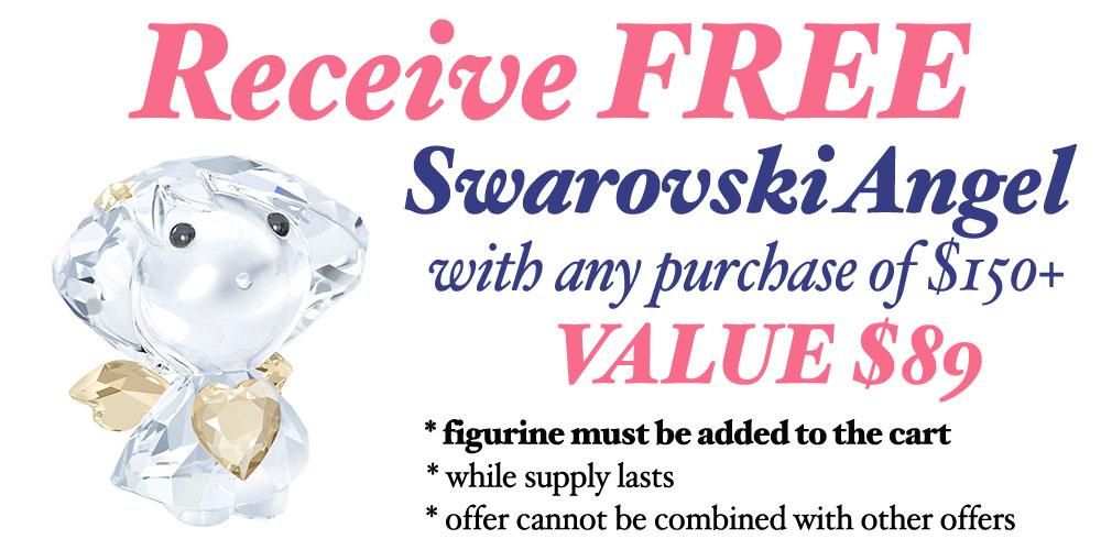 Free Swarovski Angel offer with purchase