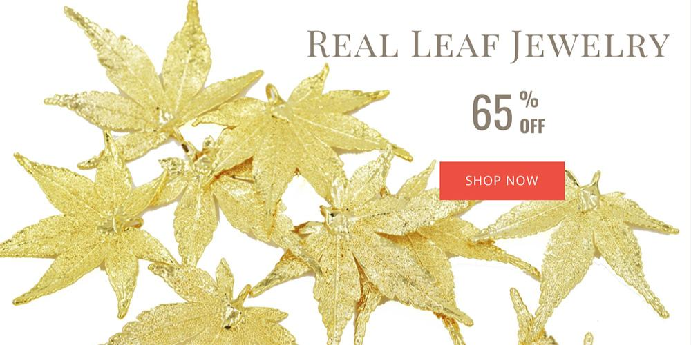 Real Leaf Jewelry Sale