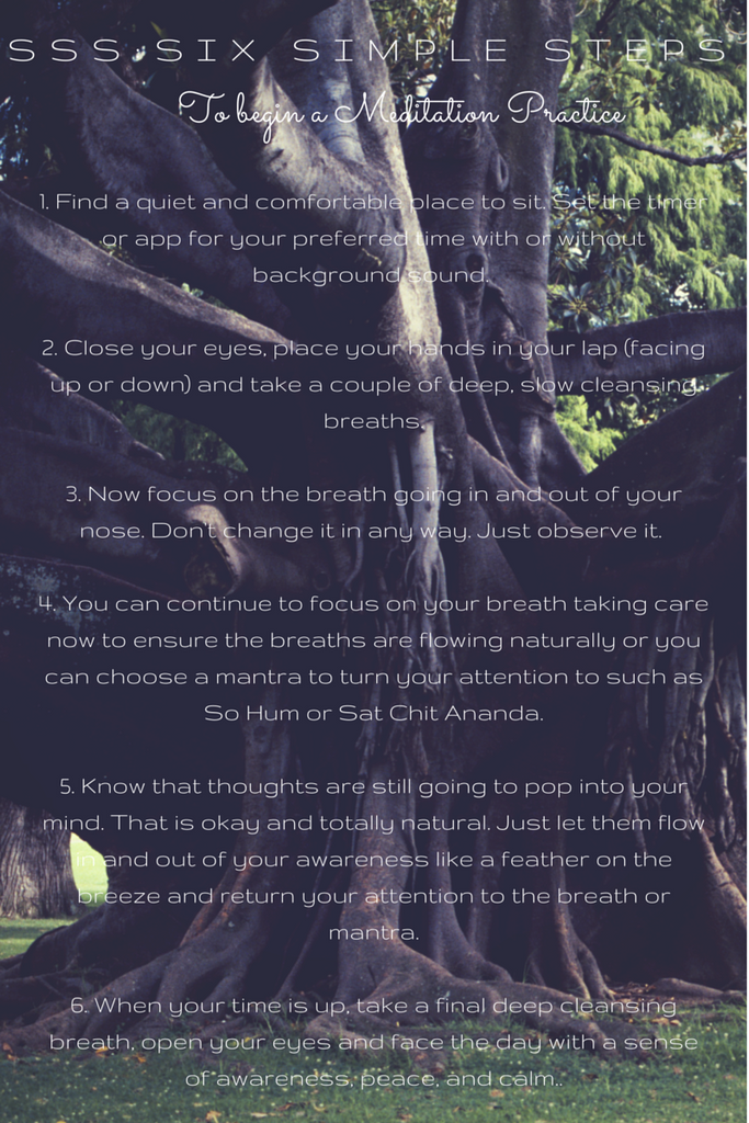 Meditation in Six Simple Steps (SSS)