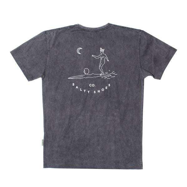 2a54e4f9360 Salty Shoes - Flow Tee Black Stone Wash - T-Shirts - Minty Duds ...