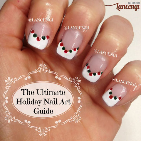 Dotting Tool Manicure - Easy Christmas Nail Art Design