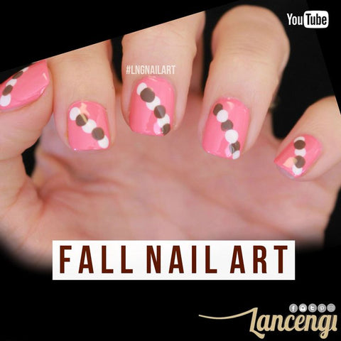 Dotting Tool Manicure - Easy Fall Nail Art Design