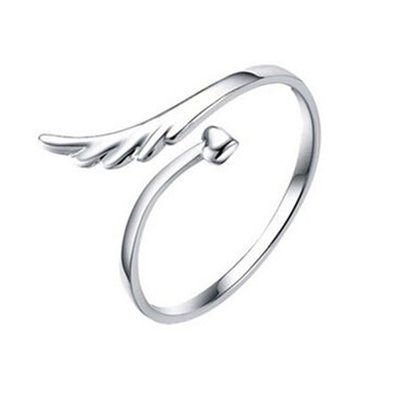 Open Heart Adjustable Ring