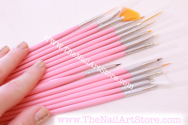 Nail Art 15 Piece Brush Set