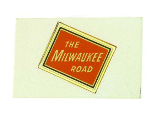 Franklin Mint The Milwaukee Road emblems of American Railroads bar in silver