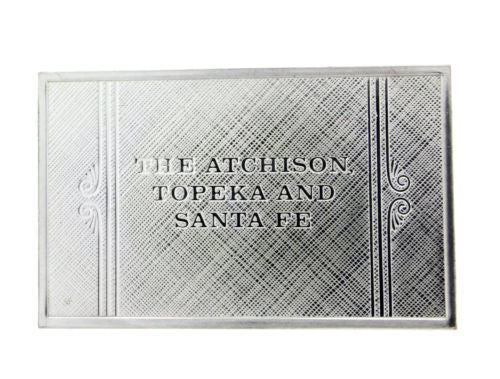 Franklin Mint Santa Fe emblems of American Railroads bar in sterling silver