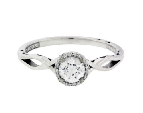 Tacori 52RD65 Sculpted Crescent engagement ring in 18k Size 8.75