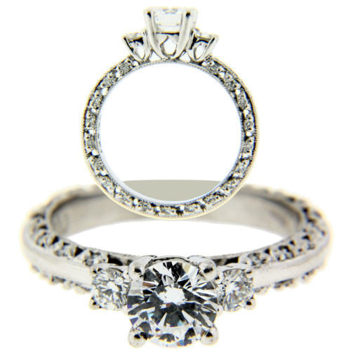 Tacori 2369 .39 carat diamond Engagement ring in Platinum fits .90 carat.