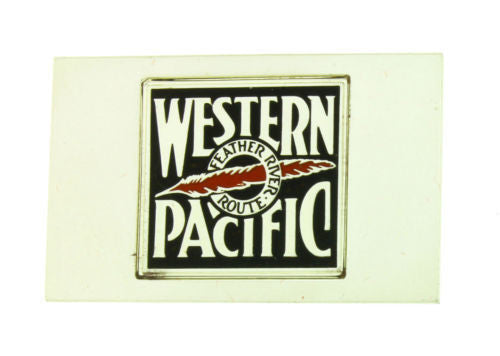 Franklin Mint Western Pacific emblems of American Railroads bar in silver