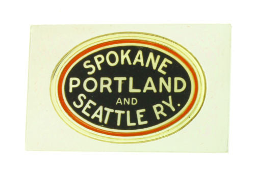 Franklin Mint Portland and Seattle emblems of American Railroads bar in silver