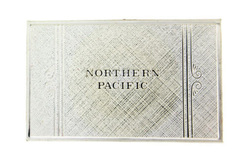 Franklin Mint Northern Pacific emblems of American Railroads bar in silver