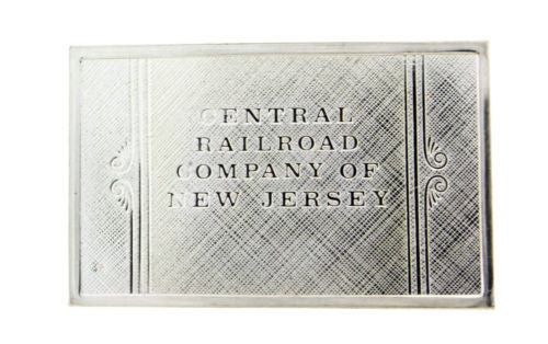 Franklin Mint New Jersey emblems of American Railroads bar in sterling silver