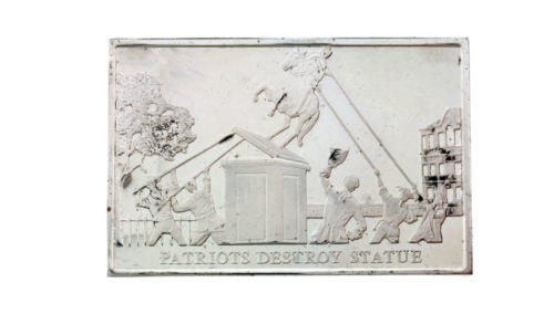 Danbury Mint 1977 Patriots Destroy Statue 750 grain bar in sterling silver