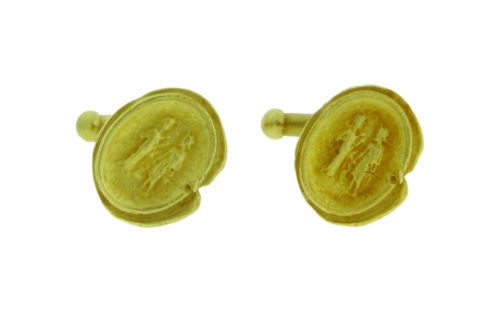 1988 vintage Kieselsein cufflinks in 18k yellow gold in very good condition