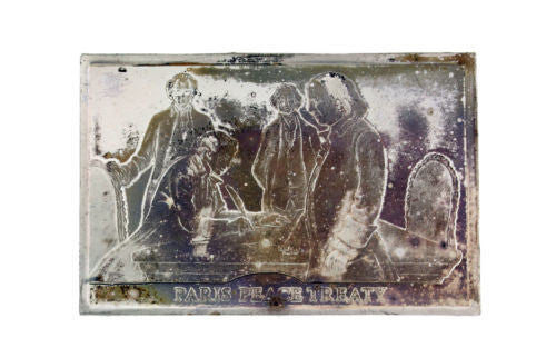 Danbury Mint 1977  Paris Peace Treaty 750 grain bar in sterling silver