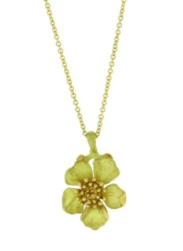 Vintage Tiffany & Co flower necklace in 18k yellow gold in very good condition