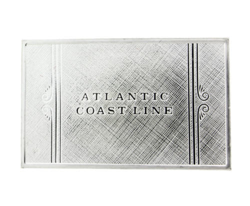 Franklin Mint Atlantic emblems of American Railroads bar in sterling silver