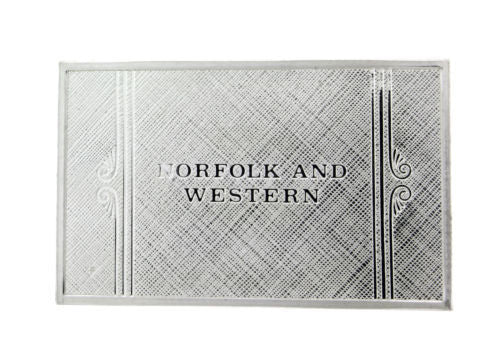 Franklin Mint Norfolk and Western emblems of American Railroads bar in silver