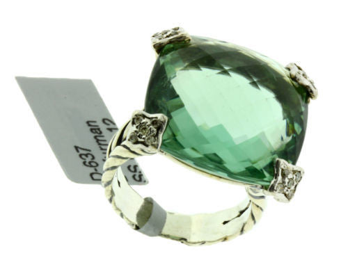 David yurman prasiolite ring in 18k white gold and for David s fine jewelry