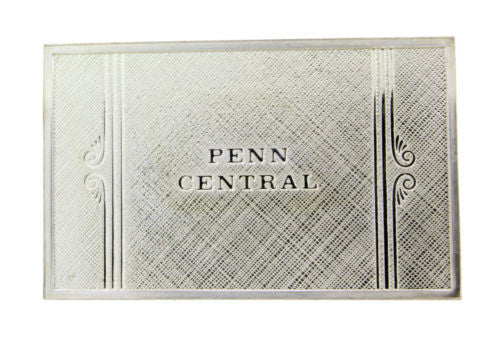 Franklin Mint Penn Central emblems of American Railroads bar in sterling silver