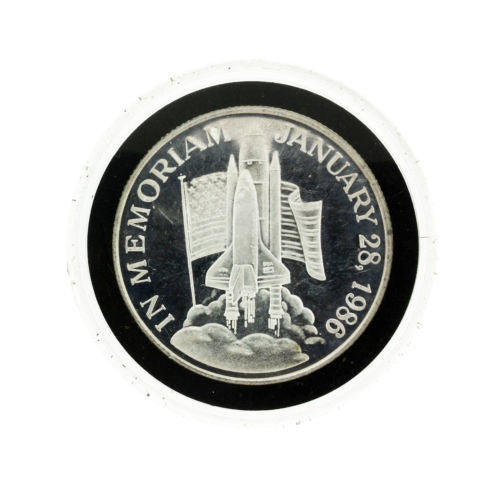 In Memoriam Challenger Space Shuttle1986 1 Troy ounce Silver round