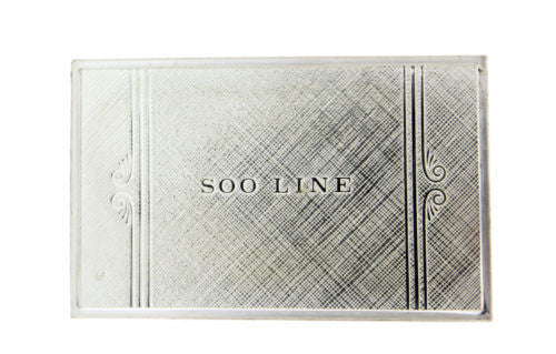 Franklin Mint Soo Line emblems of American Railroads bar in sterling silver