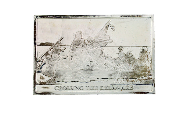 Danbury Mint 1977 Crossing the Delaware 750 grain bar in sterling silver