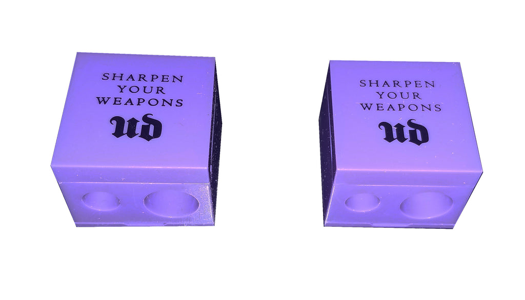 2 x Urban Decay lip & eyeliner Sharpener Grind House Double Barrel Purple unbox